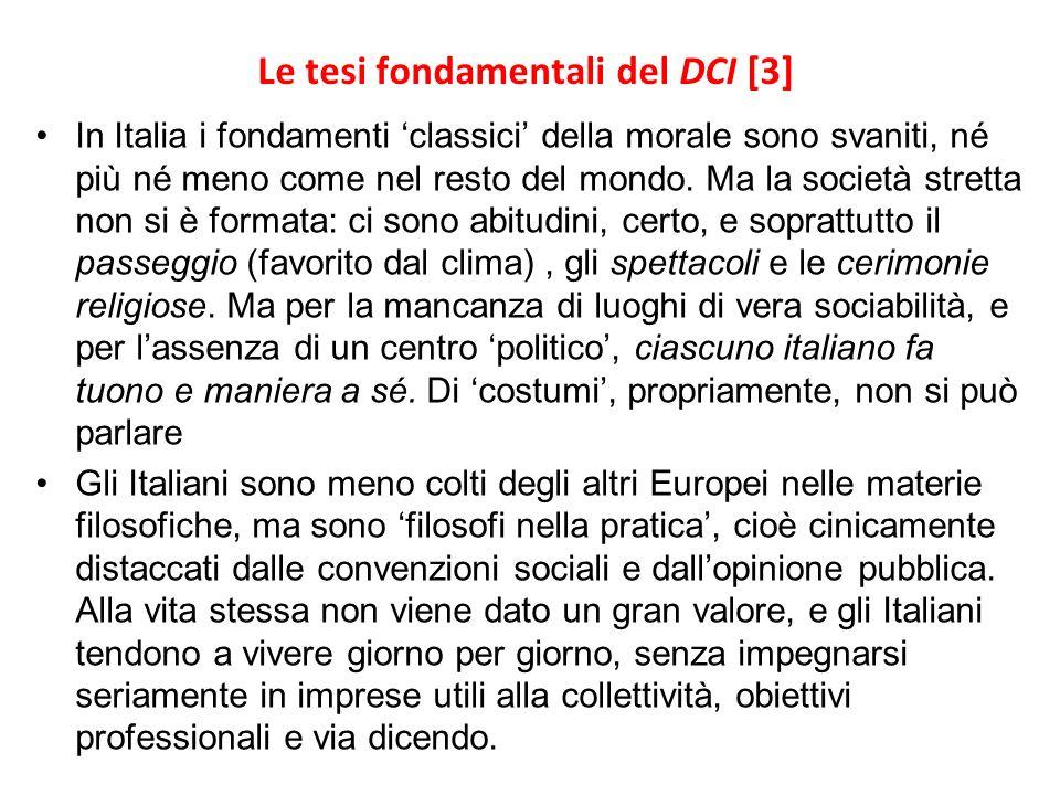 Le tesi fondamentali del DCI [3]
